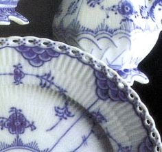 Royal Copenhagen Blue Fluted Lace pattern...such a pretty pattern