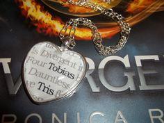 Divergent Insurgent Allegiant Dauntless Faction 'Tris' and 'Tobias' Literary Book Quote Pendant Necklace