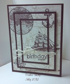 Here is a card stamping technique that I am currently 'stuck' on. I love it! Sooo easy, and the finished card looks so great!  Here is th...