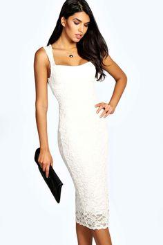 e1ad31025a Jess Lace Sweetheart Midi Dress