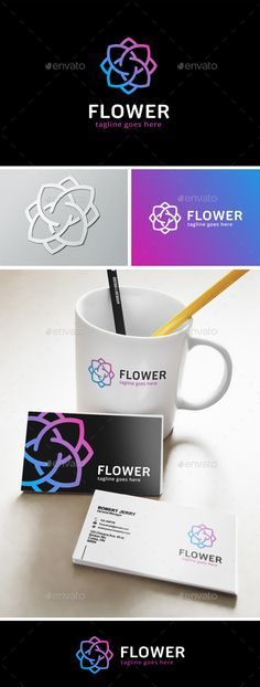 Flower  Logo Design Template Vector #logotype Download it here: http://graphicriver.net/item/flower-logo/13252172?s_rank=466?ref=nexion