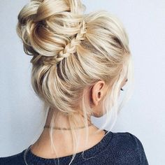 34 beautiful braided wedding hairstyles for the modern bride - updos - Hochzeitsfrisuren-braided wedding updo-Wedding Hairstyles Braided Hairstyles For Wedding, Cool Hairstyles, Braided Updo, Hairstyle Ideas, Hair Ideas, Bridal Hairstyle, Updos Hairstyle, Bun Hairstyles With Braids, Romantic Hairstyles