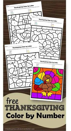 Thanksgiving Worksheets, Thanksgiving Coloring Pages, Thanksgiving Activities For Kids, Thanksgiving Preschool, Thanksgiving Turkey, Color By Number Printable, Free Printable Numbers, Printable Worksheets, Free Printables