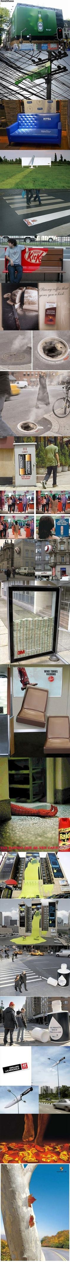 Clever and creative advertisment