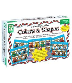 Colors & Shapes Board Game - Carson Dellosa Publishing Education Supplies  #CDWishList