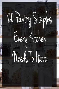 Does your kitchen have these pantry staples on hand? If you need to cook a quick meal, these are must have kitchen items to have! Everything a kitchen should have.