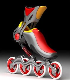 Inline skate red yellow suspension shock absorber and ankle support – En Güncel Araba Resimleri Roller Derby, Roller Skating, Rollers, Inline Speed Skates, Bike Design, Pop Design, Design Lab, Sketch Design, Technology