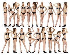 Full length portrait of a beautiful young models in black bikini Fotos De Stock Sin Royalties Gratis Female Pose Reference, Pose Reference Photo, Drawing Reference Poses, Female Modeling Poses, Female Poses, Model Poses Photography, Poses References, Figure Poses, Bikini Poses
