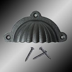 Bin Pull 3 1/2 in. - Cabinet Pulls Black Wrought Iron
