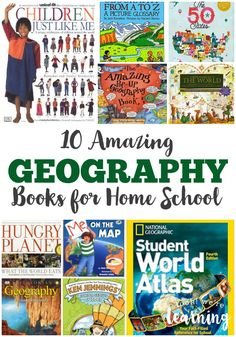 These 10 amazing geography books for home school are awesome for homeschoolers or after-schoolers!
