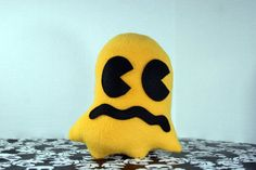 Pac-Man Fever Ghost Plush Toy - Yellow N Black - Z+Ghost