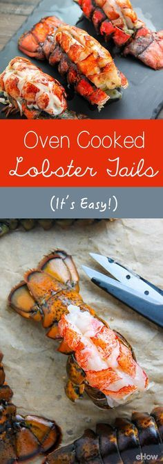 Lobster tails are one of my favorite meals to make at home on special occasions. While lobster tails can be made a variety of ways, such as steamed, cooking them in the oven is quick, easy and absolutely delicious. Lobster Tail Oven, Baked Lobster Tails, Cooking Lobster Tails, Grilled Lobster, How To Cook Lobster, Cooked Lobster, Oven Baked Lobster Tail Recipe, Red Lobster, Seafood Boil