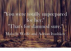 Bloodlines Quotes | Malachi Wolfe and Adrian Ivashkov