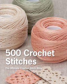 500 Crochet Stitches is both a stitch guide and a how-to-crochet primer, all in one volume. You get all the information needed to get started.