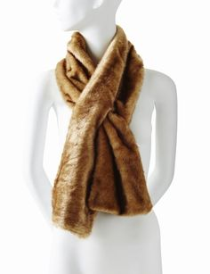 Faux Fur Keyhole Scarf from THELIMITED.com #ItsTime #TheLimited