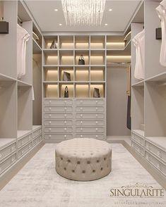 Walk In Closet Design, Bedroom Closet Design, Master Bedroom Closet, Home Room Design, Closet Designs, Home Interior Design, Dressing Room Decor, Dressing Room Closet, Dressing Room Design