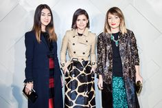 Miroslava Duma at Burberry :: Art of the Trench l October, 2013