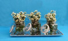 PEWTER #Pewter #Charolas #Flores #Flowers #Vidrio #Blue #Azul #Tray