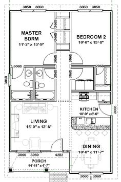 Plan Bonnie- Stock House Plan; good for apartment over garage