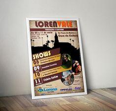 Cartaz da tradicional festa do Vale do Paraíba: LorenVale.