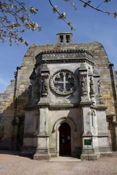 """Rosslyn Chapel, Scotland. This is the chapel featured in Dan Brown's novel and the movie. """"The Da Vinci Code"""""""