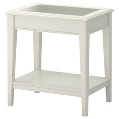 LIATORP Side table - IKEA. Would be perfect for a beautiful seasonal shadow box display.