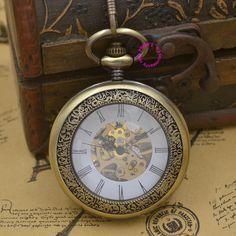 $66.00 (Buy here: https://alitems.com/g/1e8d114494ebda23ff8b16525dc3e8/?i=5&ulp=https%3A%2F%2Fwww.aliexpress.com%2Fitem%2Fmen-Mechanical-Pocket-Watch-man-fob-watches-glass-steampunk-bronze-roman-antique-vintage-retro-Stylish-hand%2F32407391906.html ) men Mechanical Pocket Watch man fob watches glass steampunk bronze roman antique vintage retro Stylish hand Wind good quality for just $66.00