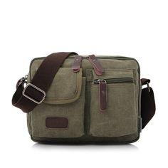 MANJIANGHONG Vintage Men's Messenger Bags Canvas Shoulder Bag Fashion Men Business Crossbody Bag Multifunction Travel Handbag  #bag #bagshop #handbags #highschool #Happy4Sales #fashion #backpack #shoulderbags #YLEY #L09582 #WomenWallets #kids  #NewArrivals