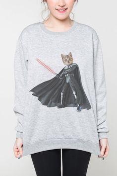 Star Wars cat shirt sweater women sweatshirt men shirt universe tshirt jumper long sleeve tshirt tee shirt grey by OnemoreToddler on Etsy https://www.etsy.com/listing/239392168/star-wars-cat-shirt-sweater-women