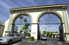 Paramount Pictures. Melrose Gate.  These are the gates I'd drive my pretty red classic convertible thru each day I came to work.