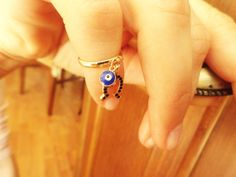 Evil eye knuckle ring horseshoe above the knuckle by Handemadeit, $12.90