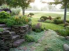 Fine Gardening - Jan's garden in Ohio. Love the woolly creeping thyme. Gardening Courses, Fine Gardening, Organic Gardening, Garden Paths, Garden Landscaping, Garden Beds, Garden Stairs, Garden Borders, Landscaping Ideas
