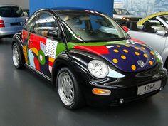 New VW Beetle designed by Otmar Alt Volkswagen New Beetle, Beetle Car, Fancy Cars, Cool Cars, Cool Car Paint Jobs, Vw Super Beetle, Bug Car, Classy Cars, Car Painting