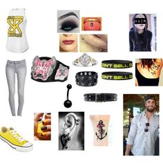 Backstage with Seth Smackdown 4/16/15 by sleepingxwithxrebels on Polyvore featuring Forever 21, Converse and Oscar de la Renta