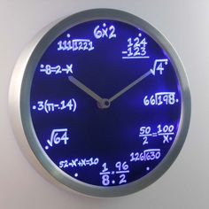 This LED mathematical equations clock.