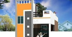 front elevation designs for duplex houses in india House Outer Design, Modern Small House Design, Bungalow House Design, House Front Design, Front Elevation Designs, House Elevation, Building Elevation, House Paint Exterior, Exterior House Colors