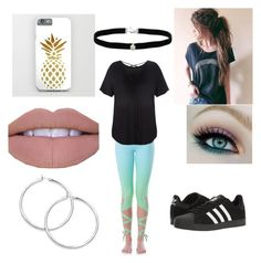 """""""CHICAAA"""" by haileeh0603 ❤ liked on Polyvore featuring Flexi Lexi, Boohoo, adidas and Amanda Rose Collection"""