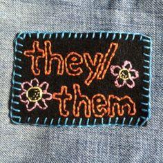 They/them pronoun patch