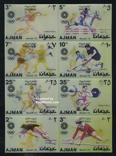Olympic Games 8v, 3-D stamps