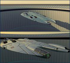 Fast Frigate Leaving Base by Scifiwarships on DeviantArt
