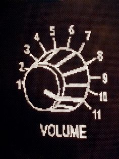 epic cross stitch pattern (for a guitar case?)