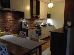 My kitchen! #Puustelli #love this brickwall