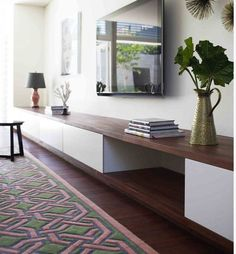 Best Ideas Modern Tv Cabinet Designs For Living Room 36 – – Tv Room Ikea Living Room, Living Room White, Living Room Storage, White Rooms, Living Room Furniture, Cozy Living, Bedroom Storage, Bedroom Tv, Living Room Cabinets