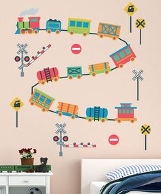 Take a simple wall and turn it into a totally personal and visually compelling space. This decal set includes removable, repositionable and reusable wall stickers that will not damage surfaces. There are so many ways that these decals can be arranged—and that's just where the fun begins!