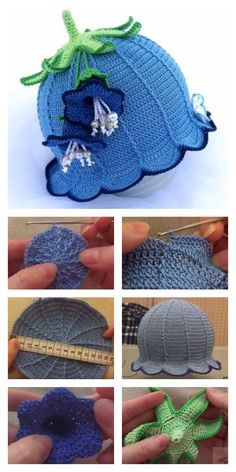 How to Crochet Bluebell Baby Hat These Crochet Baby Bluebell Hats are just adorable. I shared some links below with some free and paid patterns how to crochet them. Sombrero A Crochet, Crochet Baby Beanie, Crochet Kids Hats, Baby Blanket Crochet, Easy Crochet, Free Crochet, Knitted Hats, Booties Crochet, Baby Knitting Patterns