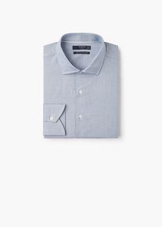Camisa slim-fit tailored estructura - 39.99 Camisas de Hombre   MANGO Man España