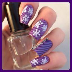snowflakes by beachingnails  #nail #nails #nailart