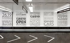 imagine if we thought about applying great design to every aspect of our lives? Pentagram proves that even a parking garage can be beautiful - bravo Pentagram! #Pentagram