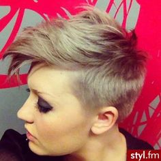 Short Edgy Pixie Haircuts - The design of your face need to significantly determine the kind of hairdo that is natural which Edgy Pixie Hairstyles, Cute Hairstyles For Short Hair, Pretty Hairstyles, Short Hair Cuts, Short Hair Styles, Haircut Short, Love Hair, Great Hair, Pixie Lang