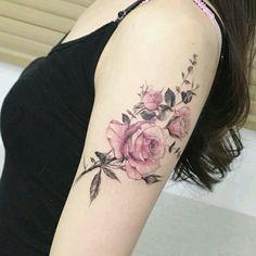 55 best rose tattoos designs - best tattoos for women . - 55 Best Rose Tattoos Designs – Best Tattoos For Women - Vintage Blume Tattoo, Vintage Floral Tattoos, Vintage Flower Tattoo, Flower Tattoo Arm, Flower Tattoo Designs, Tattoo Vintage, Tattoo Flowers, Wrist Tattoo, Butterfly Tattoos